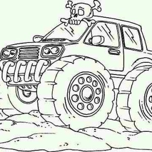 Crazy Train Monster Truck Coloring Page