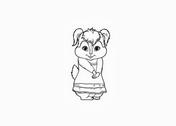 cute eleanor the chipettes picture coloring page cute eleanor the