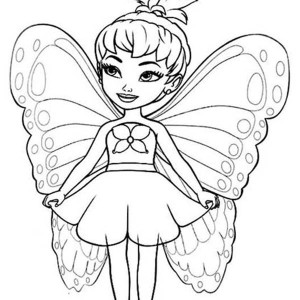 Beautiful fairie cute fairy coloring pages coloring pages for Cute fairy coloring pages