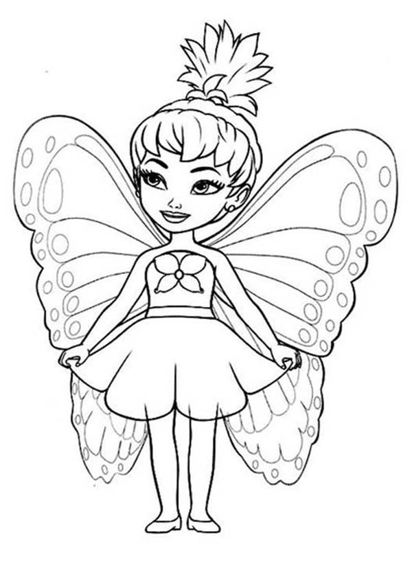 cute little disney fairies coloring page - Fairies Coloring Pages
