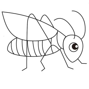 Cute Little Grasshopper Coloring Page
