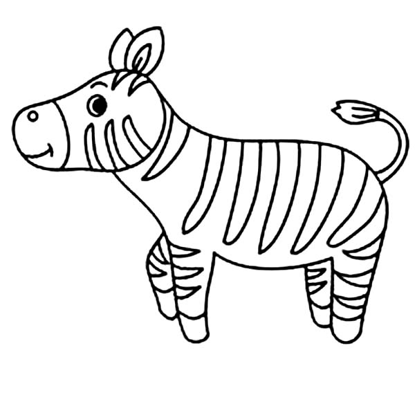 Cute little zebra coloring page download print online Coloring book zebra