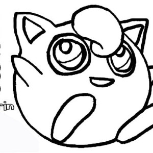 Cute Pokemon Jigglypuff Coloring Page