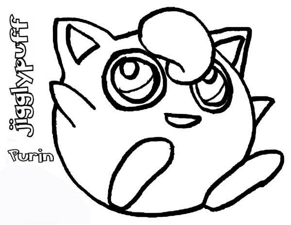 Cute pokemon jigglypuff coloring page download print for Jigglypuff coloring page