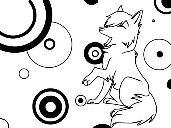Print Cute Wolf Coloring Page In Full Size