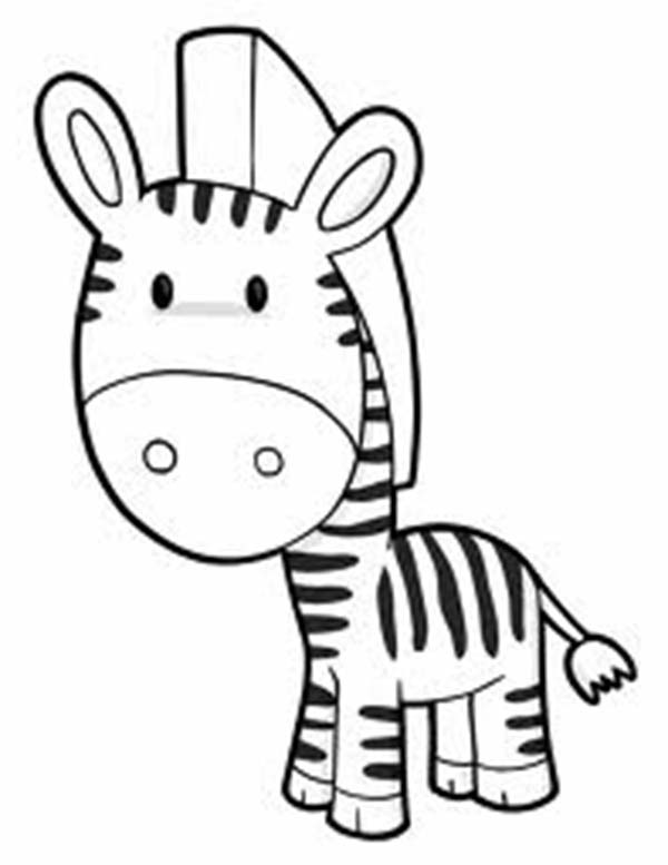 Cute Zebra Coloring Page - Download & Print Online Coloring Pages ...