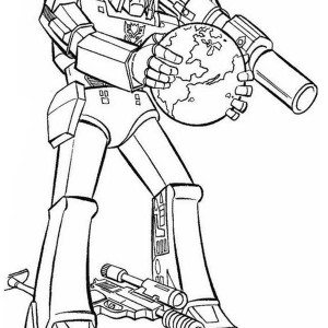 Decepticon Want to Destroy Earth in Transformers Coloring Page