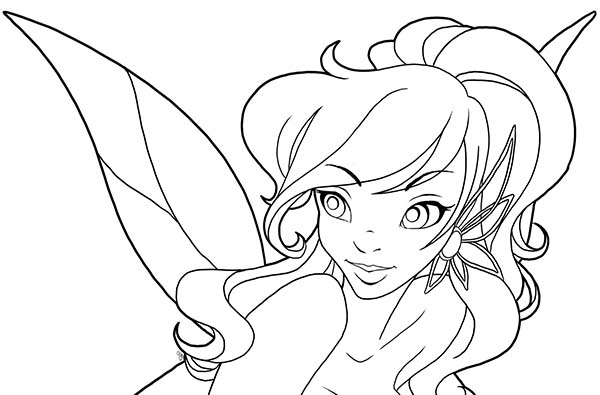 The gallery for disney fairies coloring pages silvermist for Vidia fairy coloring pages
