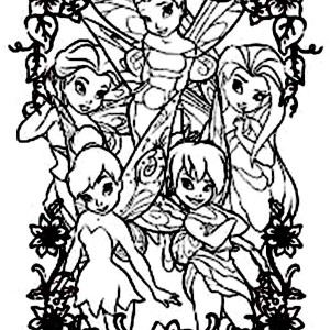 Disney Fairies Picture Coloring Page