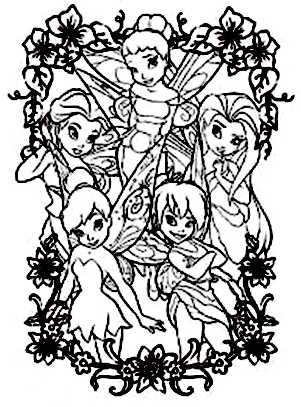 Disney Fairy Coloring Pages Printable Coloring Coloring Pages