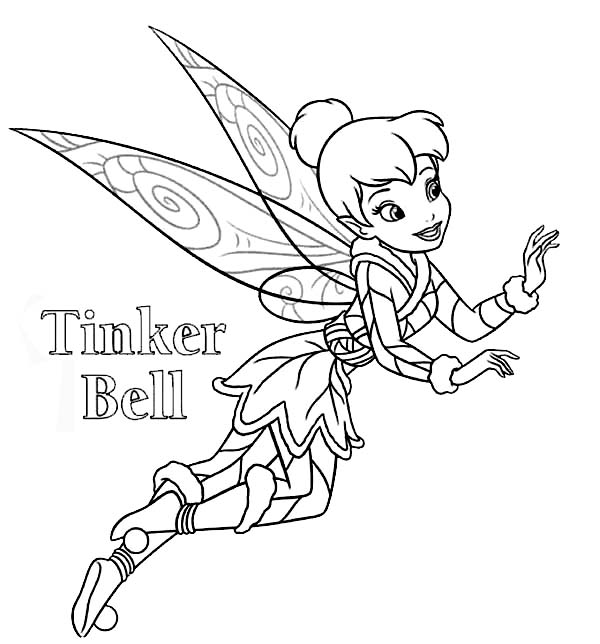 Disney Fairies Tinkerbell Coloring Page PageFull Size Image