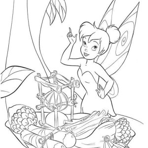 tinkerbell and fawn and silvermist in disney fairies coloring page