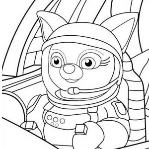 Special Agent Wolfie of Special Agent Oso Coloring Page Special