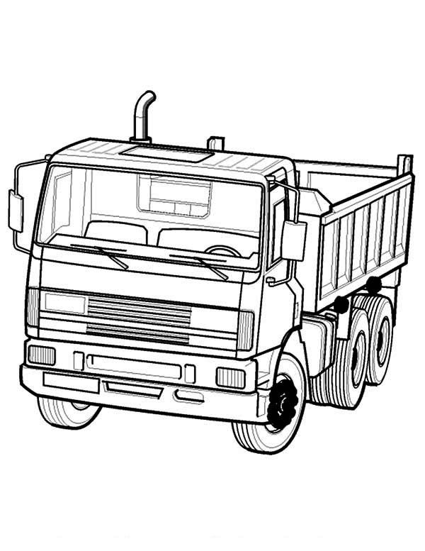Dump Truck in Semi Truck Coloring Page  Download  Print Online
