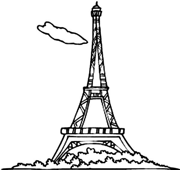 eiffel tower eiffel tower france romance coloring page eiffel tower france romance coloring pagefull