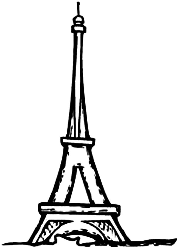 coloring pages eifell tower | Eiffel Tower I'm in Love Coloring Page - Download & Print ...