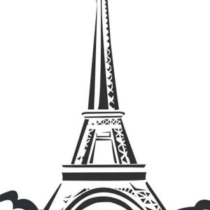 Eiffel Tower Located in Paris Coloring Page