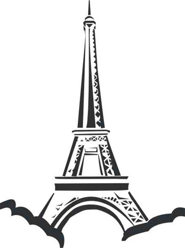 eiffel tower eiffel tower located in paris coloring page eiffel tower located in paris - Paris Eiffel Tower Coloring Pages