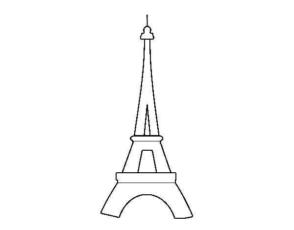 Eiffel Tower Outline Coloring Page PageFull Size Image