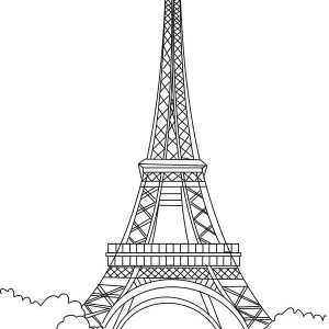 eiffel tower is the proud of france coloring page - France Eiffel Tower Coloring Page