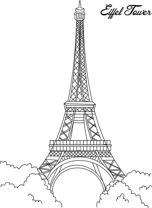 coloring pages eifell tower | Eiffel Tower is The Proud of France Coloring Page ...