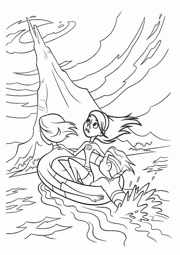 elastigirl coloring pages - photo#31