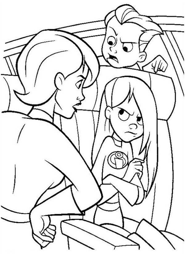 elastigirl coloring pages - photo#36