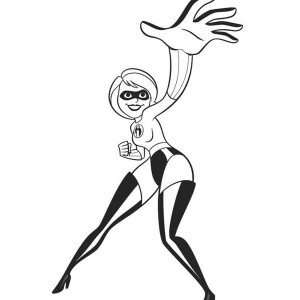 Elastigirl from The Incredibles Coloring Page