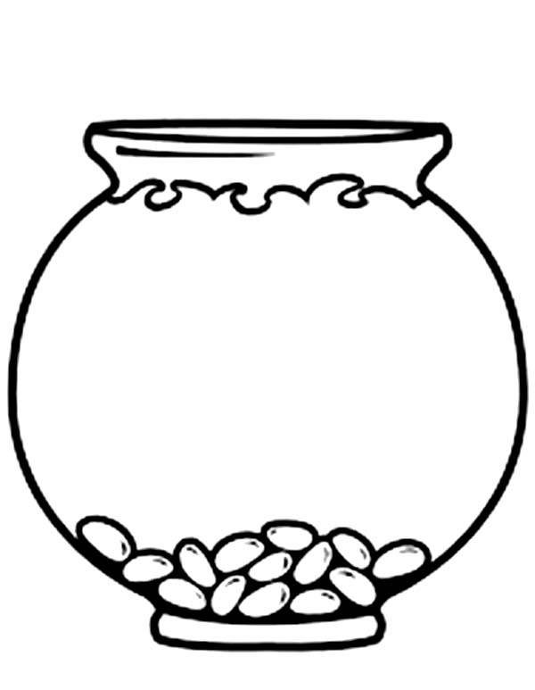 Bowl Coloring Page Emp...