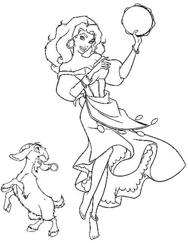 esmeralda coloring pages - photo#10
