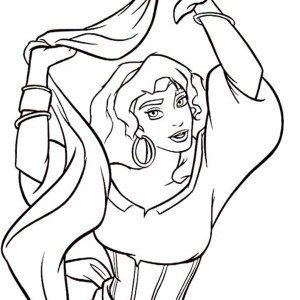 tambourine coloring page - clopin coloring pages coloring pages
