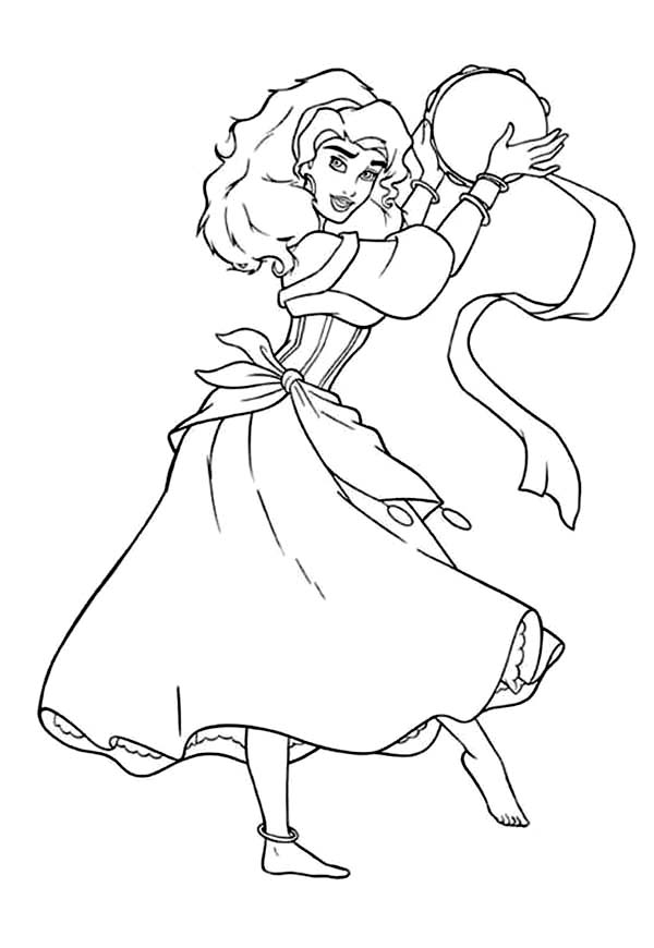 esmeralda coloring pages - photo#11
