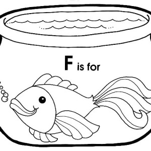Goldfish with Big Eyes in Fish Bowl Coloring Page Goldfish with