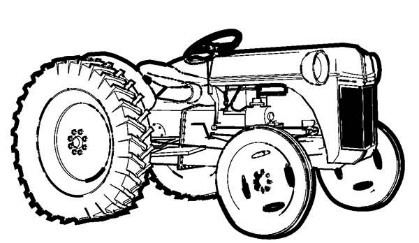 print farm tractor coloring page in full size