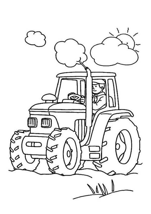 farmer and tractor coloring pages - photo#4