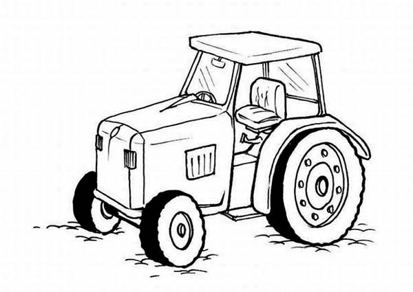 farming tractor coloring page