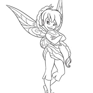 Beautiful Picture Of Tinkerbell In Disney Fairies Coloring Page