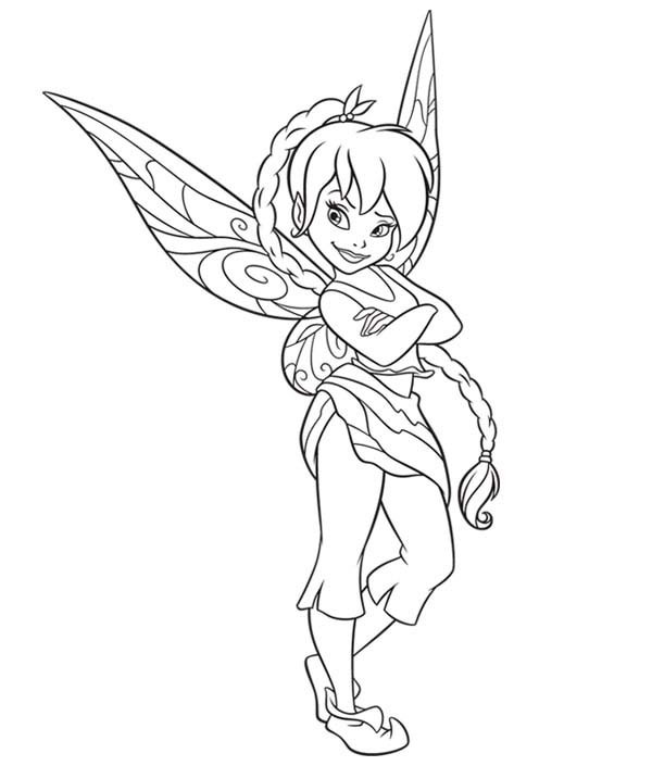 Fawn Beautiful Disney Fairies Coloring Page