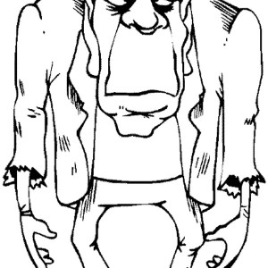 Fearsome Frankenstein Coloring Page