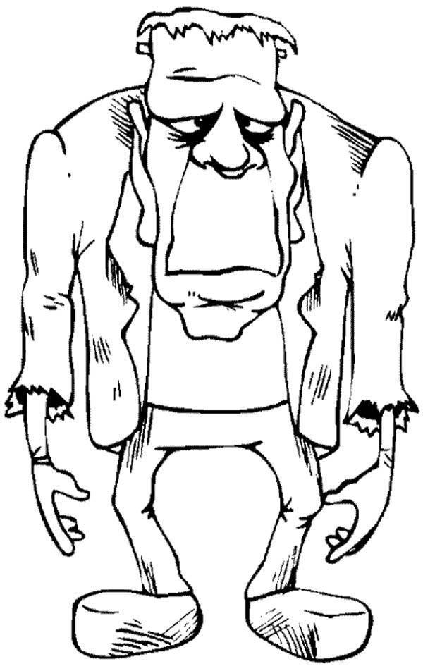Frankenstein Coloring Pages Impressive Fearsome Frankenstein Coloring Page  Download & Print Online Review
