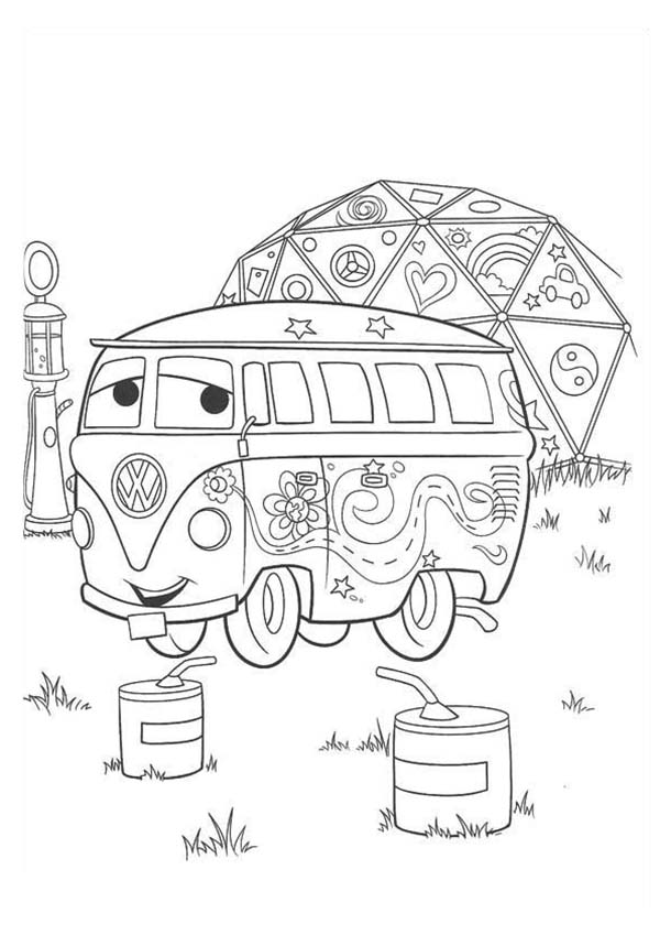 Cars Fillmore From Disney Coloring Page