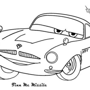 Finn McMissile from Disney Cars Coloring Page