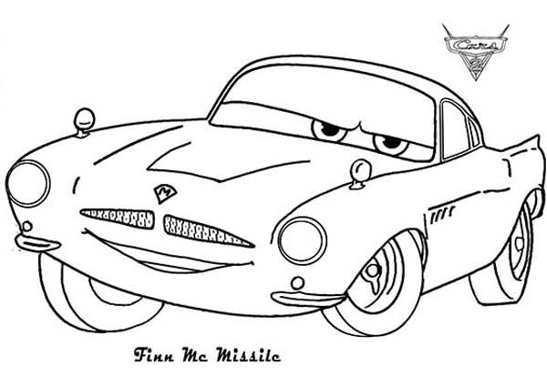 cars finn mcmissile from disney cars coloring page - Disney Cars Coloring Pages