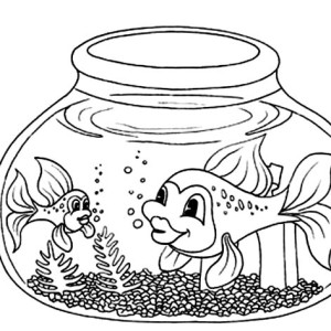 Empty Fish Bowl Coloring Page Empty Fish Bowl Coloring Page