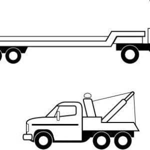 semi truck flatbed truck in semi truck coloring page flatbed truck in semi truck