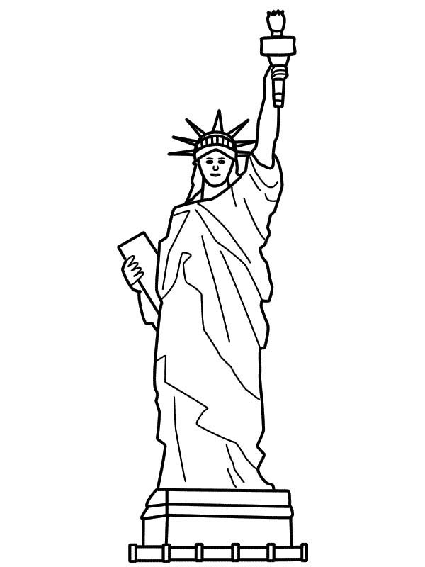 Statue of liberty drawing coloring coloring pages for Statue of liberty drawing template