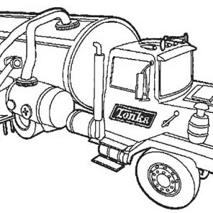 fresh water semi truck coloring page