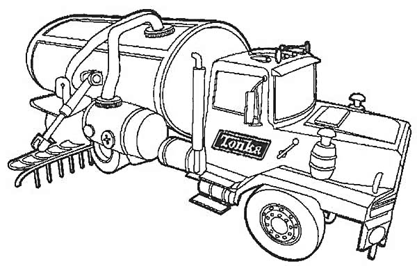 Fresh Water Semi Truck Coloring Page Download Print Online