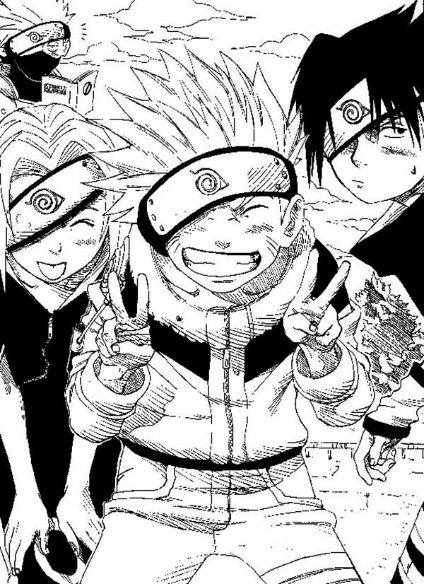 Naruto Manga Coloring Page - Download u0026 Print Online Coloring Pages ...