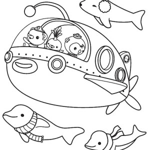 Great Adventure of The Octoauts Coloring Page